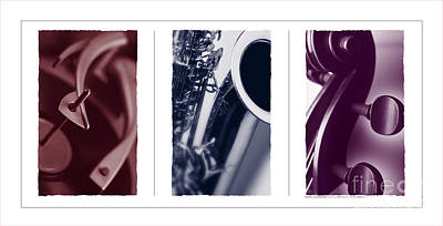 Musical Trio Print by Robert R Sanders