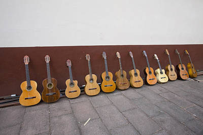 Patzcuaro Photograph - Musicians Guitars Wait by Michael S. Lewis