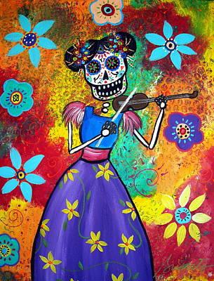 Music Painting - Musikera by Pristine Cartera Turkus