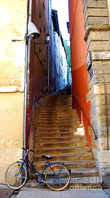 Downtown Stairs Photograph - My Bicyclette by Mona Edulesco