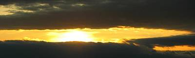 My Cloudy Sunset Print by Jyvonne Inman