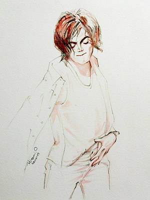 Michael Jackson Art Drawing - My In My Room by Hitomi Osanai