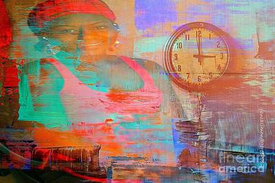 Faniart Africa America Mixed Media - My Life As Time Goes By by Fania Simon