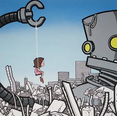 Building Exterior Digital Art - My New Robot - Girl by Hammo