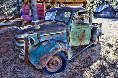 Antique Automobiles Photograph - My Old Truck by Garry Gay