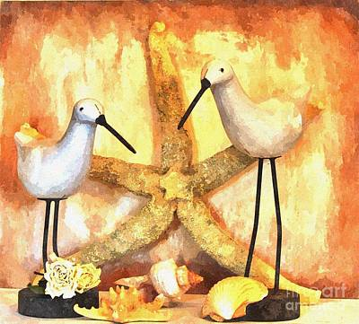 Sandpiper Digital Art - My Sandpipers by Marsha Heiken