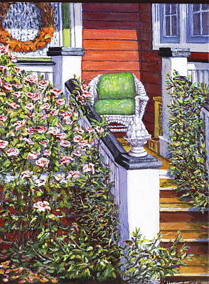 Side Porch Painting - My Side Porch by Thomas Michael Meddaugh