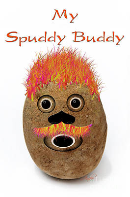 Potato Digital Art - My Spuddy Buddy by Andee Design