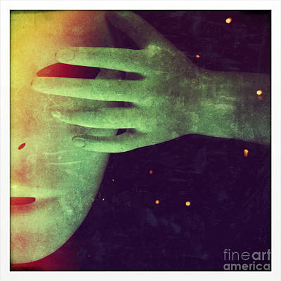 Mysterious Hand Over Mask Print by Jill Battaglia