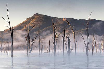 Mystic Lakes Photograph - Mystic Lake by Visionandimagination.com