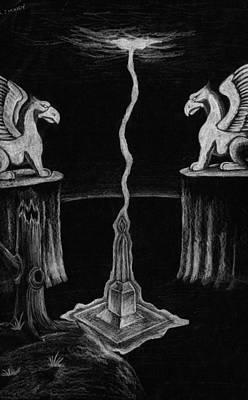 Corey Drawing - Mystical Monolith by Corey Finney
