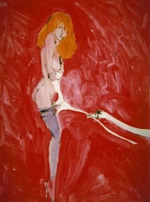 Myth Contemporary Leda And Swan 3 Original by Harry WEISBURD