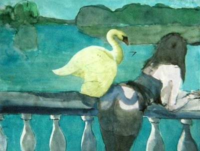 Myth Contemporary Leda And Swan 5 Original by Harry WEISBURD