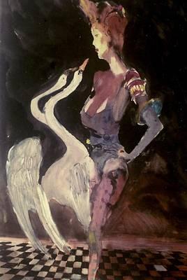 Myth Leda And Swan 8 Original by Harry WEISBURD