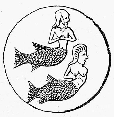 Mythology: Mermen Print by Granger