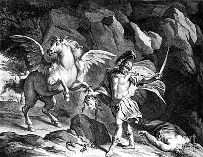 Gorgon Photograph - Mythology: Perseus by Granger