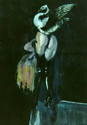 Myths Leda  Swan 1 Original by Harry WEISBURD