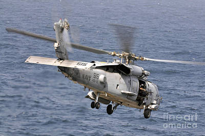 N Hh-60h Sea Hawk Helicopter In Flight Print by Stocktrek Images