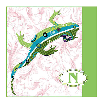 Education Painting - N Is For Newt by Elaine Plesser