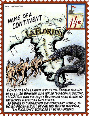 Alligator Mixed Media - Name Of A Continent by Warren Clark