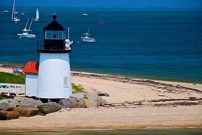 Nantucket Light Print by Mike Horvath