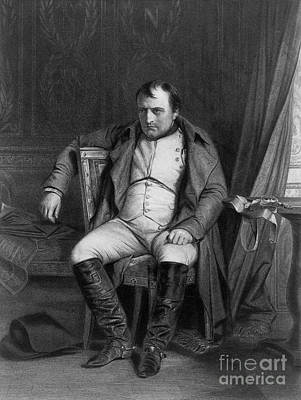 Napoleon At Fontainebleau, 1814 Print by Photo Researchers