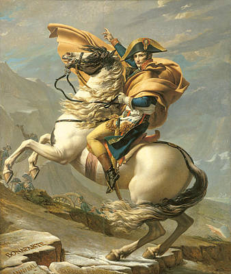 The Horse Painting - Napoleon by Jacques Louis David