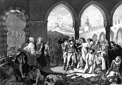 Napoleon Visits Plague Victims Print by Photo Researchers