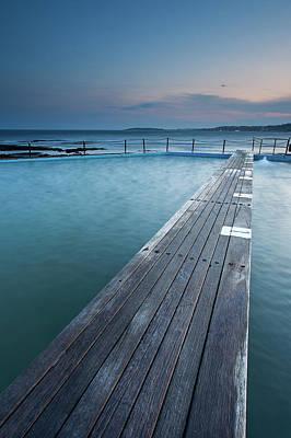 Narabeen Ocean Pool Print by Jason Round