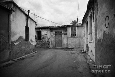 narrow run down city streets in northern nicosia TRNC turkish republic of northern cyprus Print by Joe Fox
