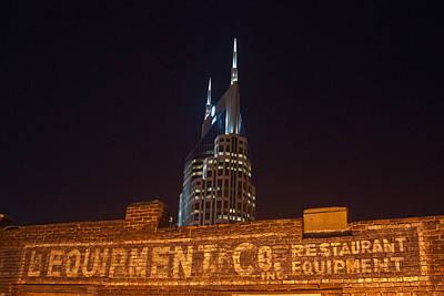 Nashville Downtown Night Scene Print by Douglas Barnett