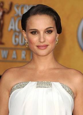 Natalie Portman Wearing An Azzaro Gown Print by Everett