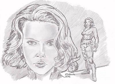 Natasha Romanova- Black Widow Print by Chris  DelVecchio