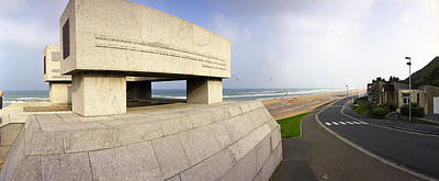 National Guard Monument Omaha Beach Original by Jan W Faul