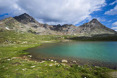National Park Of The Stelvio, The White Lake Print by Maremagnum