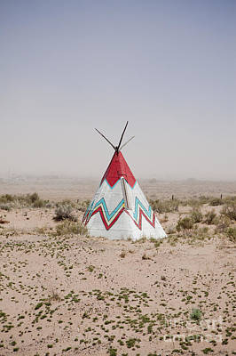 Native American Tipi Replica Print by Paul Edmondson