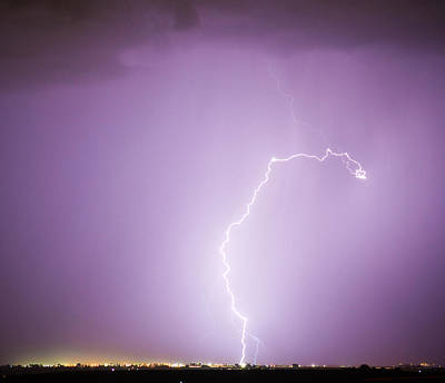 Lightning Photograph - Nature Showing Face by James BO  Insogna
