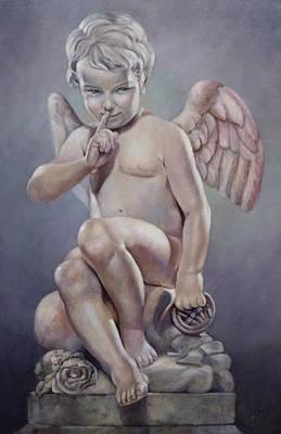 Naughty Cupid Print by Geraldine Arata