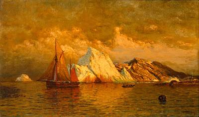 Near Midnight Labrador Print by William Bradford