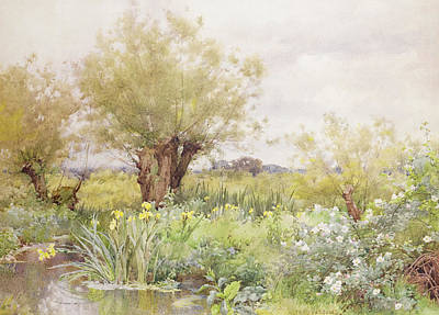Parsons Painting - Near Shiplake by Alfred Parsons