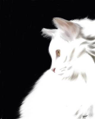 Negative Space Kitty Print by Stacy Parker