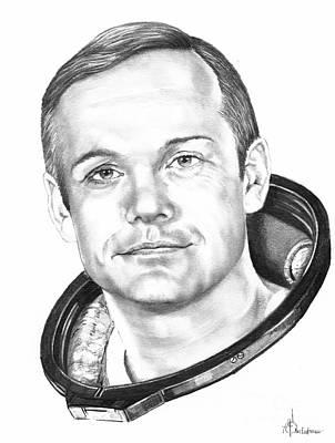 Neil Armstrong Print by Murphy Elliott