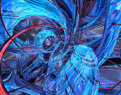 Digital Digital Art - Neon Abstract Fx  by G Adam Orosco