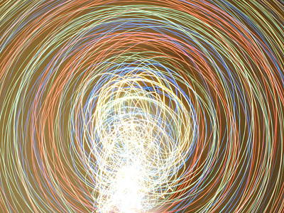 Violet Photograph - Neon Lights Spinning by Sumit Mehndiratta