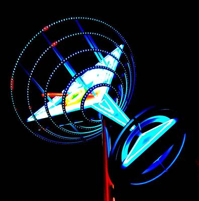 Glitter Gulch Photograph - Neon Martini 1 by Randall Weidner
