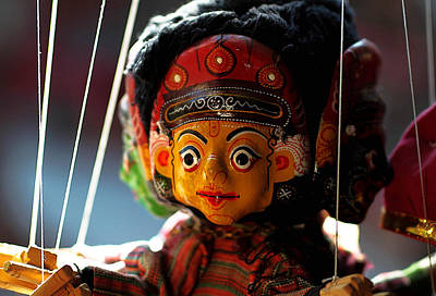 Handcrafted Mixed Media - Nepali Puppet by Xiongwei Shen