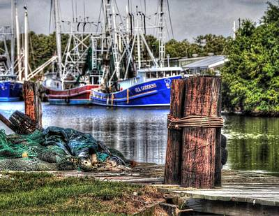 Old Firetrucks Digital Art - Nets And The Sea Goddess by Michael Thomas