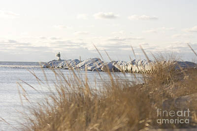 Harbor Photograph - New Buffalo Harbor In The Winter by Christopher Purcell
