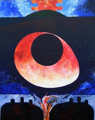 Loganville Painting - New Earth Incubation Three by Harold Bascom