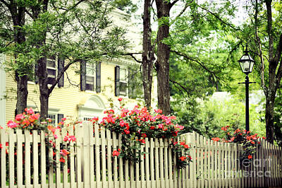 Deerfield Photograph - New England Home by HD Connelly